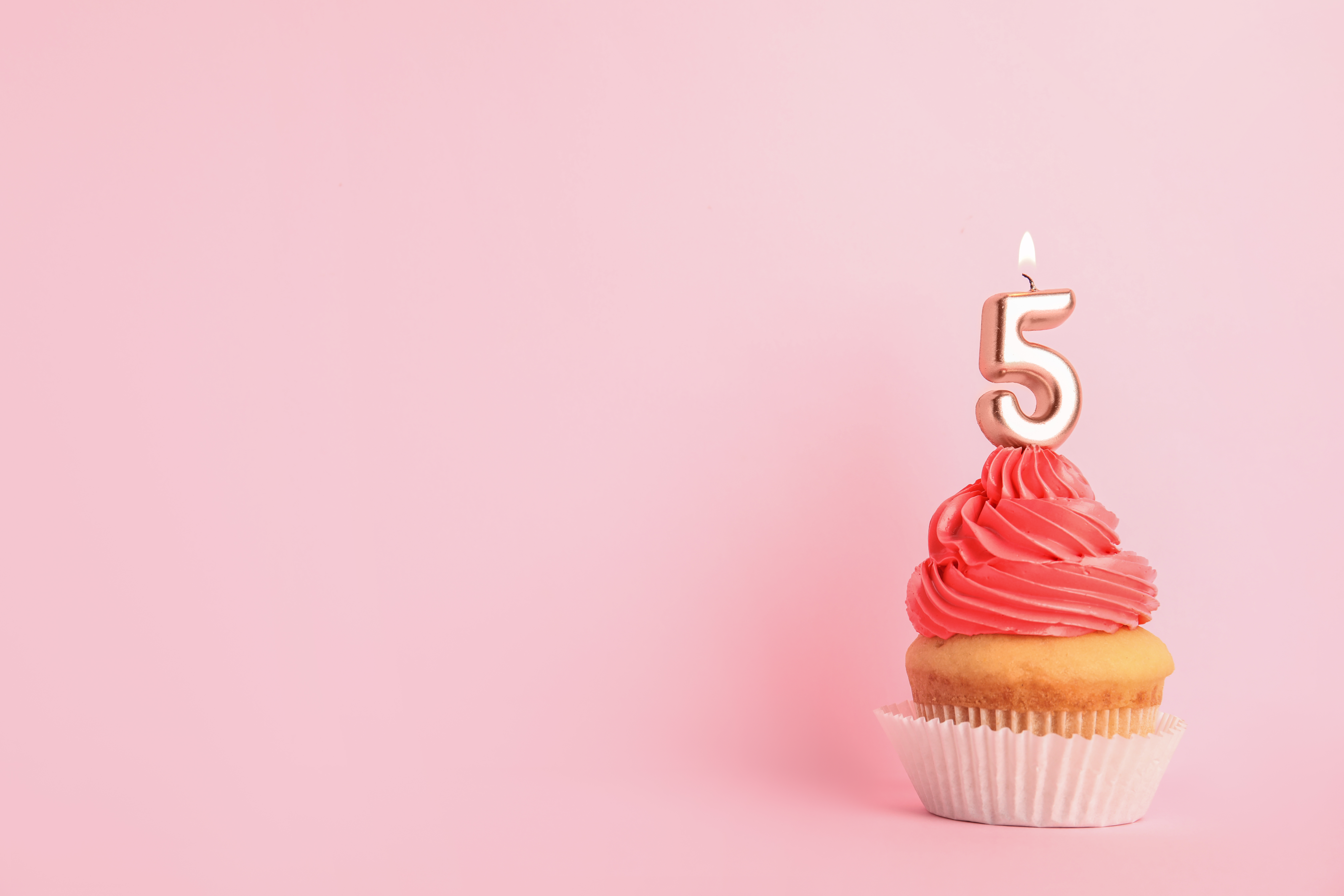 Time for cake … it's our 5th birthday!